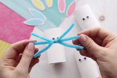 This toilet paper roll bunny is an easy Easter craft for kids. Make a paper roll bunny in different colors. Easy for kids of all ages to make! Bunny Crafts, Easter Projects, Easter Crafts For Kids, Preschool Crafts, Diy For Kids, Bunny Templates, Baby 1st Birthday, Birthday Ideas, Project Free