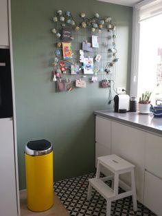 Vergrijsd Groen Parallel Histor Home Muur Pinterest