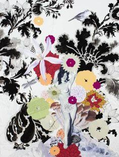 "Saatchi Art Artist Lauren Matsumoto; Collage, ""Flowerburst"" #art"