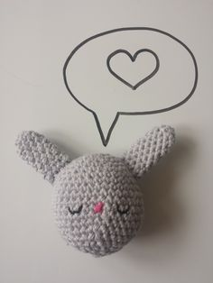 Crochet stuffed Bunny Egg toy, in 100% Cotton, Pastel Blue/Grey, Available in other colours by CroShellbyshelley on Etsy
