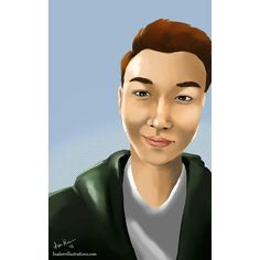 So I finished a portrait... :) been awhile since I've drawn a male. All my hard work paid off Im happy with this semi-realistic portrait. One of my best ones... p.s.... isn't he cute  #illustrator #illustration #designer #design #digitalart #art #style #artwork #drawing #portrait #portraiture #semirealistic #realistic #surface #surfacepro #photoshop #krita