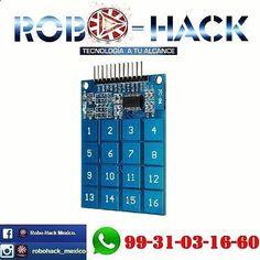 Something we liked from Instagram! Nuevo teclado touch digital compatible con arduino raspberry pic etc. #robohack #arduino #mechatronics #electronics #mecatronica #electronica #electronic #electronicadigital #telecom #sistemas #robotics #robotica #dron #drone #3dprinter #3drobotics #makerbot #formlabs #DoItYourself #diyelectronics #diy #makerspace #makerspace #raspberry #apple #hacker #hackers #robotic #maker #makers #quadcopter by robohack_mexico check us out: bit.ly/1KyLetq