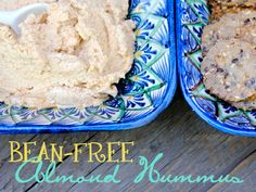Bean Free Almond Hummus...using leftover almond pulp! So creative!!
