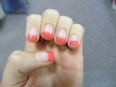 Fun Summer French Manicure. At home gel tutorial