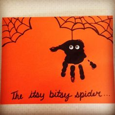 Itsy-Bitsy-Spider Easy Halloween Party Ideas For Kids Diy Halloween Crafts For Kids To Make Daycare Crafts, Classroom Crafts, Baby Crafts, Kids Crafts, Kids Diy, Fall Toddler Crafts, Infant Crafts, Infant Art Projects, Arts And Crafts For Kids Easy