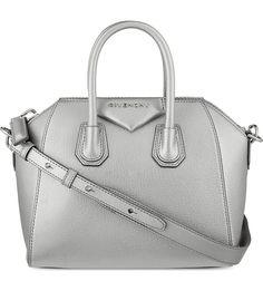 GIVENCHY Antigona mini soft-grain leather tote (Silver