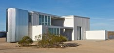container home by ecotech design, mojave desert, california