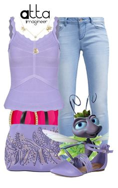 """""""Princess Atta (A Bug's Life)"""" by claucrasoda ❤ liked on Polyvore featuring Kate Spade, Just Cavalli, TOM TAILOR, Malababa, J. Herwitt, women's clothing, women, female, woman and misses"""