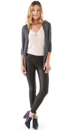 J Brand Super Skinny Leather Pants in Black (Noir) | Lyst