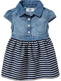 Denim-Top Dresses for Baby | Old Navy
