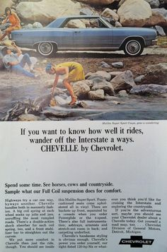 Chevrolet Chevelle Car Advertisement from 1965 National Geographic #vintage #ad