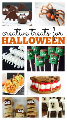 Spiders, mummies, and bats! Oh my! These creative treats for Halloween are perfect for a scary get together or Halloween party!
