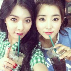 Smiley HyunA & Sohyun^^
