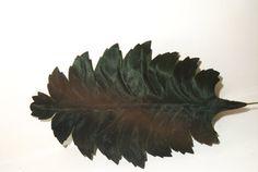 Vintage Millinery Flower 8 Palm Leaf Sateen DARK by Avaricia, $9.00