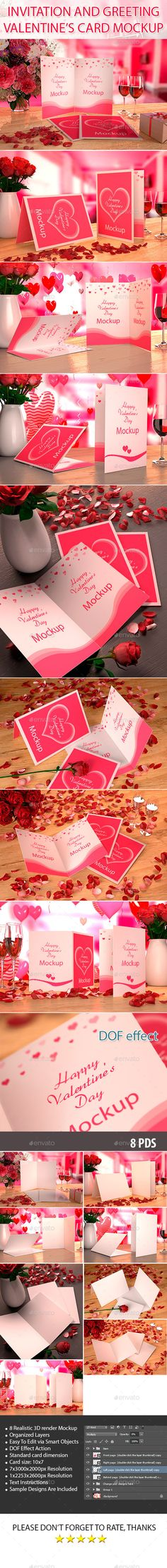 Valentine's card Mockup | Download: http://graphicriver.net/item/valentines-card-mockup/10169670?ref=ksioks