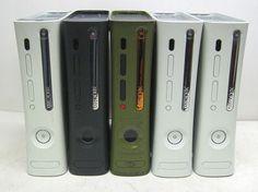 Lot 5 Microsoft Xbox 360 Game System Consoles Halo Elite White Parts Repair RROD | eBay