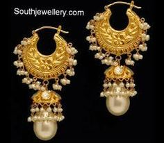 antique gold hoop jhumka - Google Search