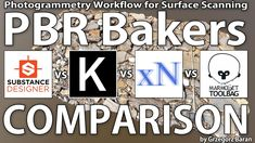PBR Bakers Comparison - Designer - Knald - XNormal - Toolbag 3d Printing, Surface, 3d Software, Tutorials, Cgi, Maya, Texture, Design, Youtube