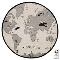 Tappeto tondo THE WORLD - Kiddy Kabane
