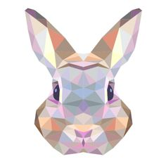High quality Photographic Prints by independent artists and designers from around the world. Photographic prints are the perfect choice for self-framing or adding to a portfolio. Poster A3, Hare Animal, Lapin Art, Polygon Art, Rabbit Art, Geometric Art, Geometric Animal, Pet Gifts, Pop Art