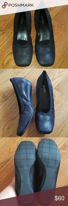 Women's leather wedge heel Leather wedge for women.  Measurement: 1.25 inches heel ,  Width: Narrow Vaneli Shoes Platforms