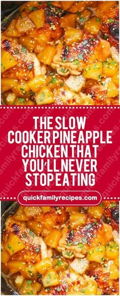 Slow Cooker Pineapple Chicken That You'll Never Stop Eating – Quick Fami. The Slow Cooker Pineapple Chicken That You'll Never Stop Eating – Quick Fami. The Slow Cooker Pineapple Chicken That You'll Never Stop Eating – Quick Fami. Crock Pot Recipes, Crockpot Dishes, Cooking Recipes, Healthy Recipes, Slow Cook Chicken Recipes, Crockpot Chicken Meals, Tasty Slow Cooker Recipes, Quick Recipes, Budget Cooking