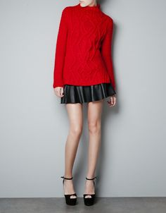 CABLE KNIT SWEATER - Knitwear - Woman - ZARA United States