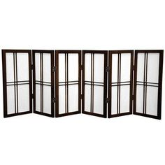"Oriental Furniture 26"" x 59"" Double Cross Shoji 6 Panel Room Divider Color:"
