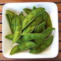 Felt Food Snow Peas | I love these too! | BeckyM Photos | Flickr