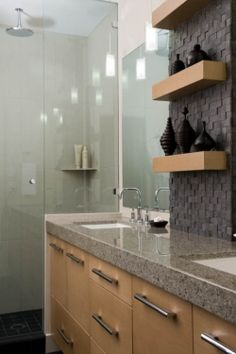 Vancouver Condo Bathroom Renovation Designed By Interior Solutions Design Group Inc Creative Use Of Patterned Tile
