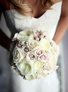 Like the fullness & soft colors in this bouquet...