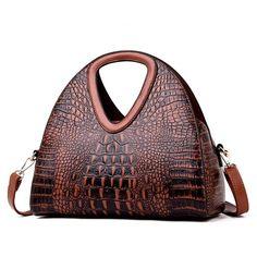 Half Moon Leather Shoulder Handbag