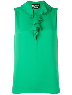 Boutique Moschino блузка без рукавов с рюшами