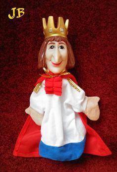 Koning poppenkastpop met grote neus. Large-nosed King hand puppet, could be Ferdinand I of Sicily (1751-1825), known as 'Re Nasone', 'King Nose'. König Puppe. Fürst (nieuw).
