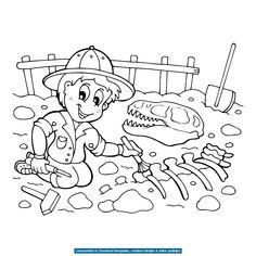 bekijk fossielen-en-dino-skeletten-0003 kleurplaat Dino Museum, Visual Perceptual Activities, Dinosaur Activities, Dinosaur Skeleton, Primary School, Drake, Coloring Pages, Preschool, 1