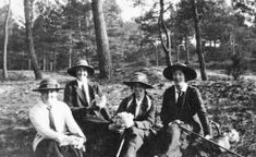 "...""a group of VADs in outdoor uniform, and actually enjoying themselves in Hardelot Woods, between Boulogne and Etaples, in France. "" VAD Uniform - Scarlet Finders"