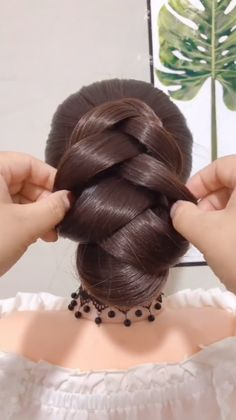 Easy Hairstyles For Long Hair, Up Hairstyles, Pretty Hairstyles, Hairdos, Updos, Hair Tutorials For Medium Hair, Hair Videos, Food Videos, Hair Up Styles