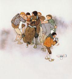 Lisbeth Zwerger illustrates The Seven Ravens