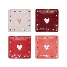 Home decor 4 Seasons - Kind Heart Square Plates, $36.95 (http://www.homedecor4seasons.com/kind-heart-square-plates/)