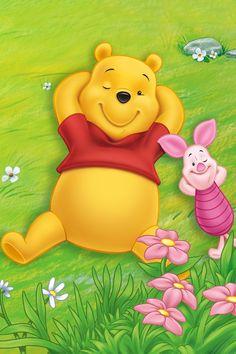 Winnie Pooh and Piglet Cute Winnie The Pooh, Winne The Pooh, Winnie The Pooh Quotes, Cartoon Wallpaper, Disney Wallpaper, Hd Wallpaper, Tinkerbell Wallpaper, Wallpaper Dekstop, Wallpapers