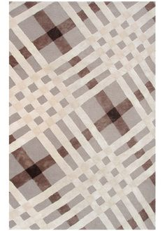 Brit Plaid Brown Ivory Beige Indoor/Outdoor Tufted Rug from @LaylaGrayce #laylagrayce #huntinglodge #destination #rug