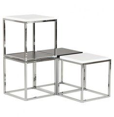 This ultra-versatile designer object can used as a storage cube or an occasional table. Stack and combine to your heart's content… in black or white, or even better, in both! Dimensions: 42 x 42 x Cube Coffee Table, Cube Table, Table Desk, Coffee Tables, Cubes, Home Office Furniture Desk, Kokoon Design, Low Tables, Cube Storage