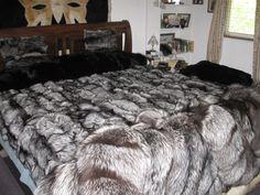 FurBob's New Silver Fox Blanket Faux Fur Bedding, Bohemian Bedroom Decor, Fur Blanket, Fur Throw, Soft Blankets, Queen, Cool Rooms, Dream Bedroom, Bed Covers
