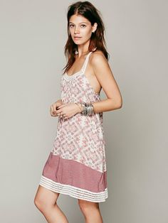 Free People Placed Printed Halter Dress    Must have for summer! Love all the silver bangles with it.