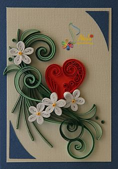 neli: Quilling cards - With love...