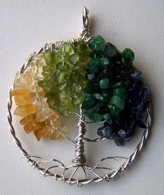 $35 Starting Bid: Mothers Personalized Birthstone Family Tree Brooch or Pendant