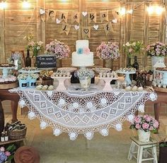 Wedding Reception Decorations Rustic Dessert Bars 61 Ideas For 2019 Bridal Shower Decorations, Wedding Reception Decorations, Vintage Party Decorations, Chic Wedding, Rustic Wedding, Wedding Desserts, Vintage Bridal, Dessert Tables, Dessert Bars