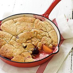 Grilled Summer Fruit Cobbler Recipe (This is fun to make in a dutch oven over a camp fire)