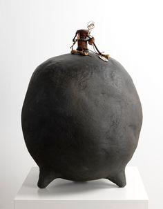 John Isaacs - Doubt, 2010, african black clay