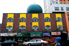 VISIT: Masjid Malcolm X Shabazz Mosque, 102 West 116th Street, southwest corner Malcolm X Boulevard, Harlem, New York City
